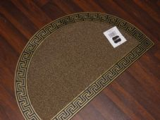 NON SLIP DOORMAT 75X45CM RUBBER GOOD QUALITY MORE COLOURS HALF MOON GOLDS/BLACK